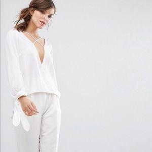NWT ASOS cross blouse
